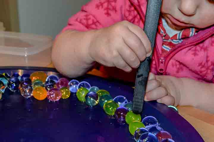 Marbles and Tongs