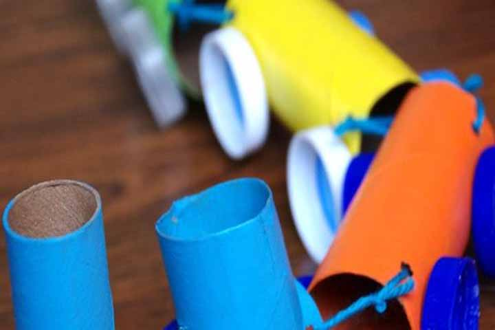 Toilet Paper Roll Train Craft