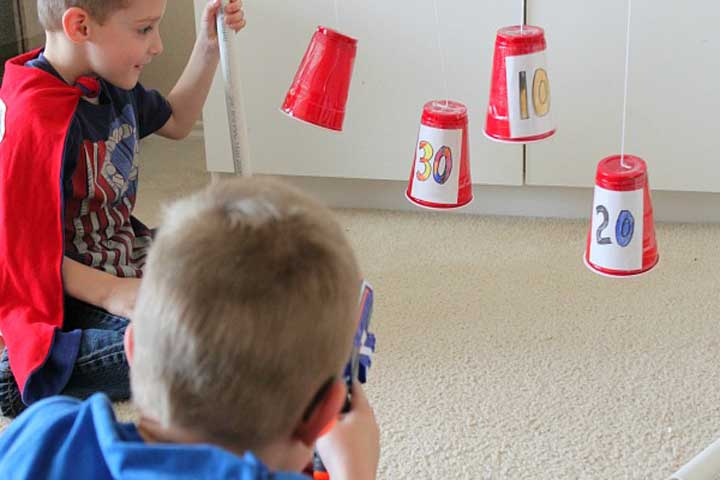 Make Your Child Learn How To Aim Plastic Cup Targets