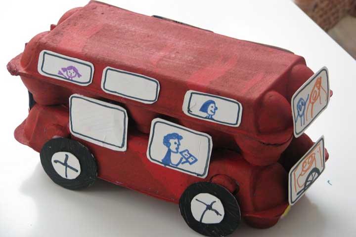 Egg Carton Bus!