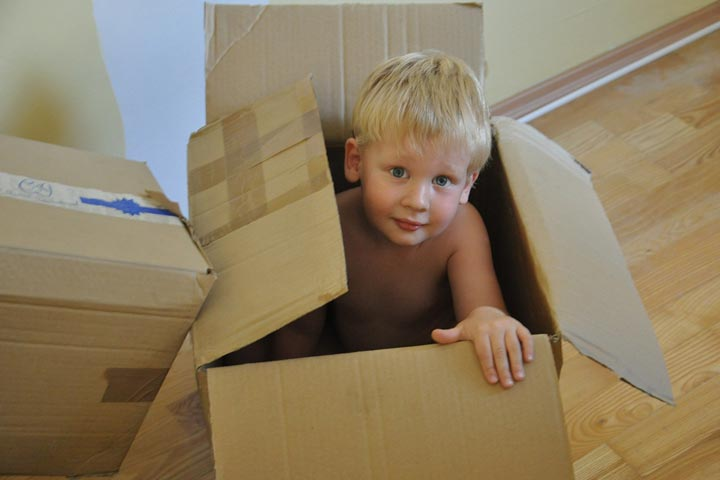 Precautions To Take if Your Kid is Playing With a Large Box