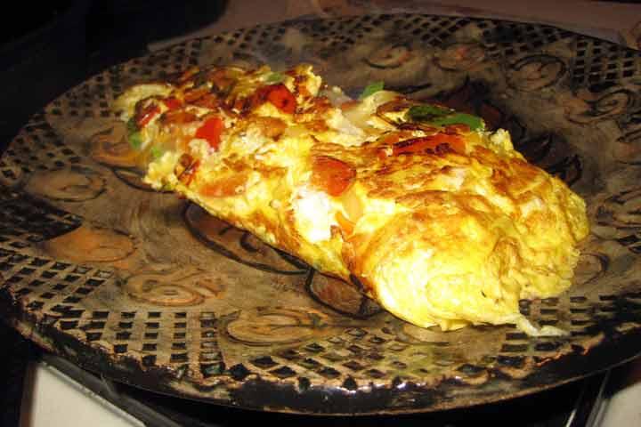 Delightful Vegetable Omelet