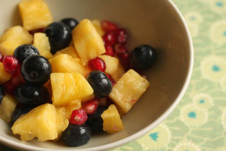 Pineapple and Pomegranate Salad
