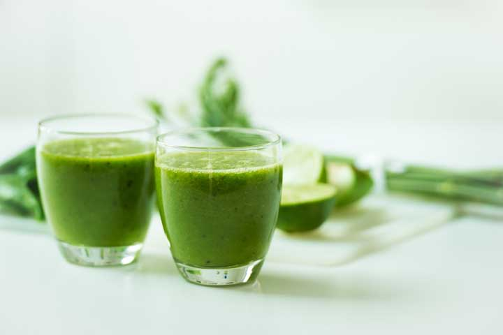 Pineapple and Wheat Grass Juice