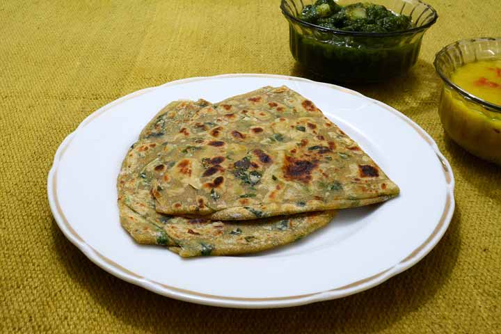 Tasty Fenugreek Leaves Parantha