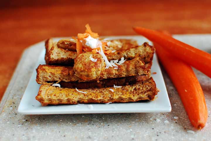 Refreshing Carrot and Paneer Toast