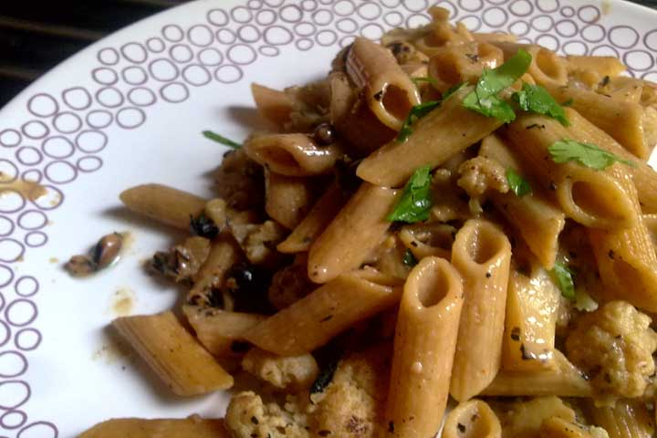 Delightful Cauliflower with Penne