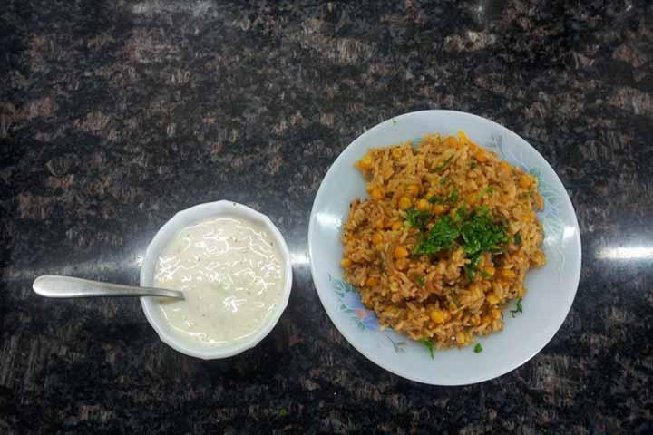 Yummy Corn Biryani