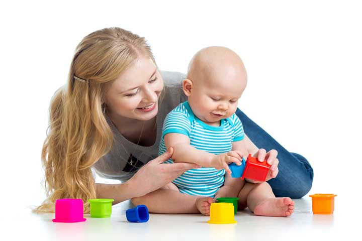 Your Baby Grabs Toys While Sitting