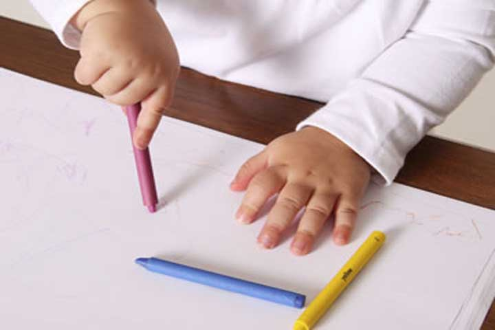 Your Cutiepie Is Likely To Hold A Crayon Between His Thumb & Fingers While Drawing